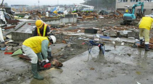 被災地での復旧支援活動
